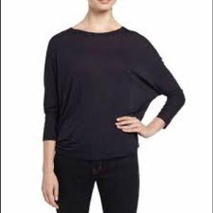 Vince Long Sleeve Dolman Navy Jersey Shirt Medium